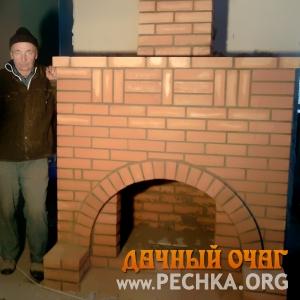 Большой камин с аркой, фото 3