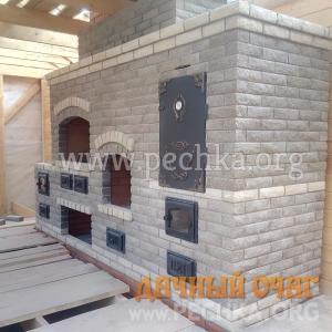 Барбекю-комплекс с камином и коптильней, фото 3