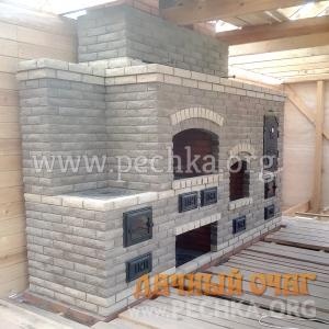 Барбекю-комплекс с камином и коптильней, фото 2