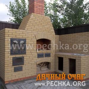 Барбекю-комплекс с плитой-духовкой, фото 1