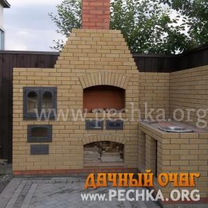 Барбекю-комплекс с плитой-духовкой, фото 2