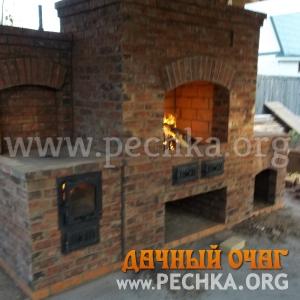 Барбекю-комплекс из  состаренного кирпича, фото 2