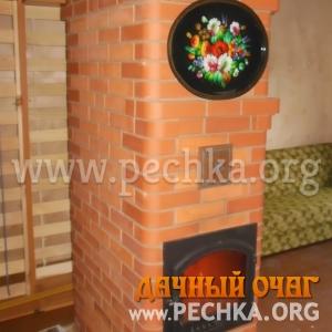 Печь-голандка с видом камина, фото 3