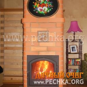 Печь-голандка с видом камина, фото 1