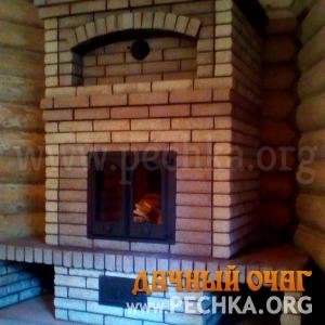 Закрытый камин с дверкой, фото 2