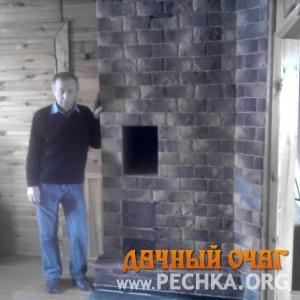 Печь с варочной панелью и облицовкой, фото 1