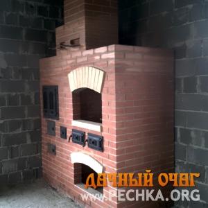 Небольшой барбекю-комплекс с плитой-духовкой, фото 2