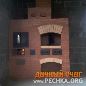 Небольшой барбекю-комплекс с плитой-духовкой, фото 3