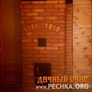 Большая отопительная печка с закругленным кирпичом, фото 3