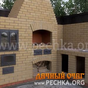 Барбекю-комплекс с плитой-духовкой, фото 3