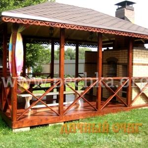 Барбекю-комплекс из облицовочного кирпича с арками, фото 3
