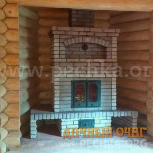 Закрытый камин с дверкой, фото 3